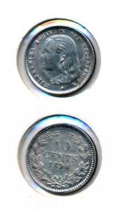 Nederland 1894 10 cent Wilhelmina