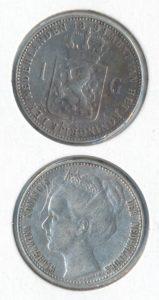 Nederland 1898 1 Gulden Wilhelmina