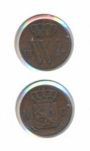 Nederland 1867 0,5 cent Willem III