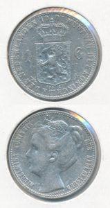 Nederland 1901 1 Gulden Wilhelmina