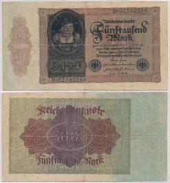 Duitsland 1922 5000 Mark bankbiljet
