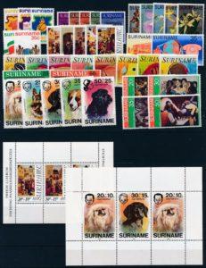 Suriname Onafhankelijk 1975-1976 complete jaargang postzegels postfris
