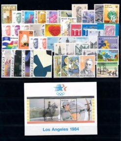 Belgie 1984 complete jaargang postzegels postfris