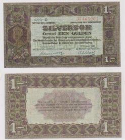 Nederland 1920 1 Gulden bankbiljet zilverbon