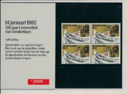 Nederland 1982 350 jaar Universiteit van Amsterdam PZM1