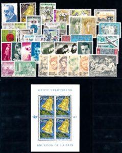 Belgie 1963 Complete jaargang postzegels postfris