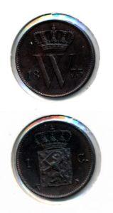 Nederland 1875 1 cent Willem III