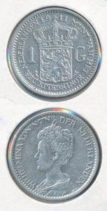 Nederland 1911 1 Gulden Wilhelmina