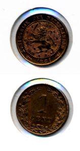 Nederland 1881 1 cent Willem III