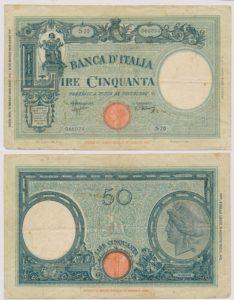 Italie 1926 50 Lire bankbiljet
