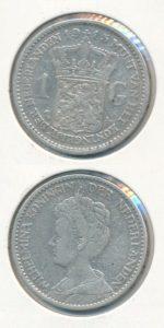 Nederland 1915 1 Gulden Wilhelmina