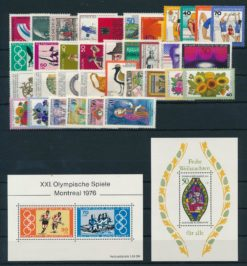 Duitsland Bondsrepubliek 1976 Complete jaargang postzegels postfris