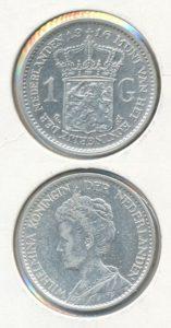 Nederland 1916 1 Gulden Wilhelmina