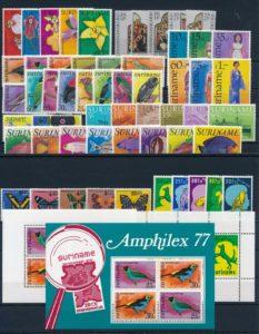 Suriname Onafhankelijk 1977 complete jaargang postzegels postfris