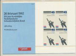 Nederland 1982 100 jaar Koninklijke Nederlandse Schaatsenrijders bond PZM2