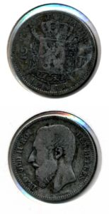 Belgie 1868 2 francs