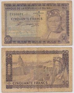 Mali 1960 50 Francs bankbiljet