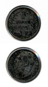 Belgie 1904 1 franc Leopold II