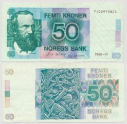 Noorwegen 1989 - 1990 50 Kroner bankbiljet