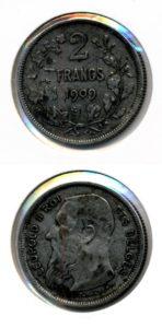 Belgie 1909 2 francs Leopold II