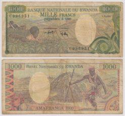 Rwanda 1978 1000 Francs bankbiljet