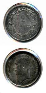 Belgie 1912 2 francs Albert