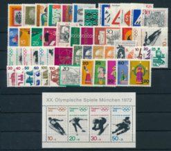 Duitsland Bondsrepubliek 1971 Complete jaargang postzegels postfris
