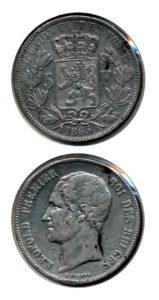 Belgie 1865 5 francs
