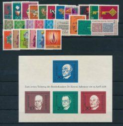 Duitsland Bondsrepubliek 1968 Complete jaargang postzegels postfris
