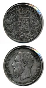 Belgie 1868 5 francs