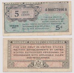 Verenigde Staten 1946 5 cent bankbiljet