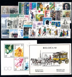Belgie 1982 complete jaargang postzegels postfris