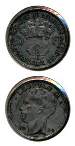 Belgie 1934 20 francs vlaams Leopold II