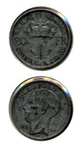 Belgie 1934 20 francs vlaams Leopold III