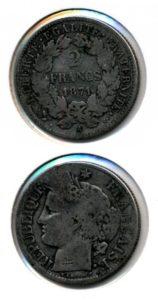 Frankrijk 1871 2 francs