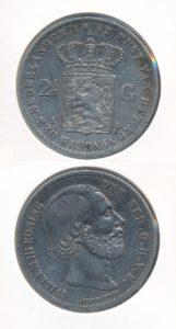 Nederland 1852 A 2,5 Gulden Willem III