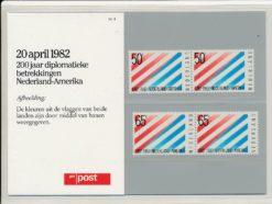 Nederland 1982 200 jaar Diplomatieke betrekkingen Nederland -Amerika PZM4