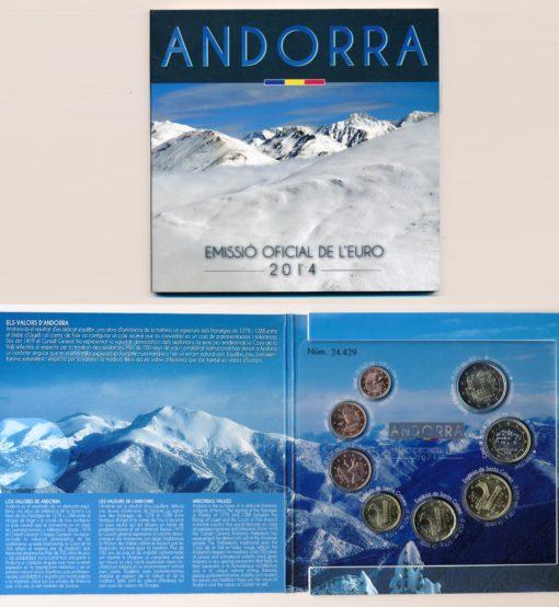54890 Andorra 2014 BU Set