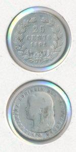 Nederland 1895 B 25 cent Wilhelmina