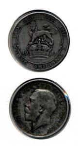Groot Brittannie 1911 1 shilling