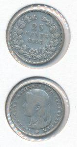 Nederland 1893 25 cent Wilhelmina