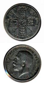 Groot Brittannie 1917 1 florin