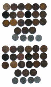 Nederland 1890 - 1944 1 centen Wilhelmina 25 stuks