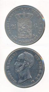 Nederland 1847 2,5 Gulden Willem II