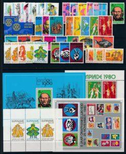 Suriname Onafhankelijk 1980 complete jaargang postzegels postfris