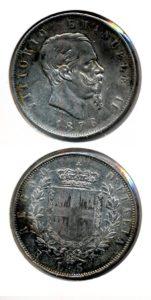 Italie 1876 5 lire