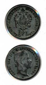 Oostenrijk 1859 1/4 florin