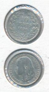Nederland 1896 10 cent Wilhelmina