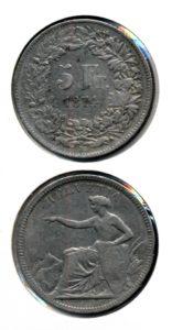 Zwitserland 1874 B 5 francs