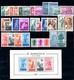 Belgie 1948 Complete jaargang postzegels postfris